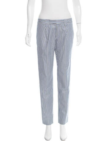 Thakoon Addition Striped Mid-Rise Pants None