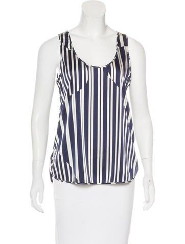 Thakoon Addition Silk-Blend Striped Top None