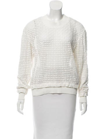 Thakoon Addition Guipure Lace Pullover Sweater None