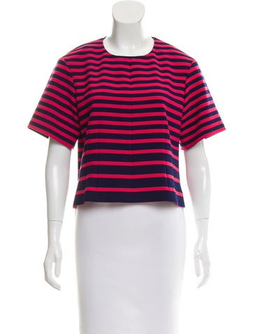 Thakoon Addition Striped Short Sleeve Top None
