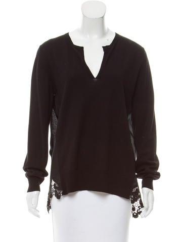 Thakoon Addition V-Neck Rib Knit Sweater None