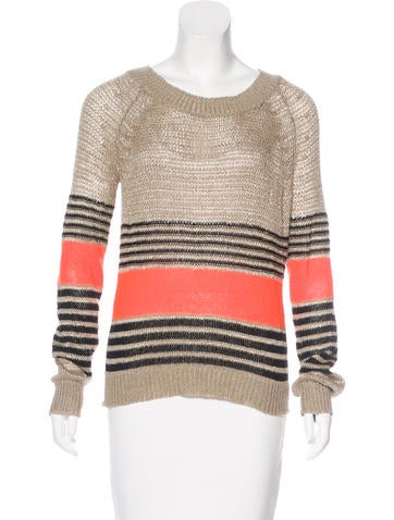 Thakoon Addition Linen Striped Sweater None