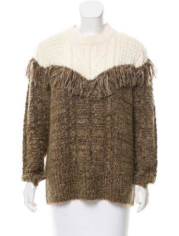 Thakoon Addition Wool-Blend Cable Knit Sweater w/ Tags None