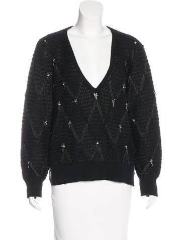 Thakoon Addition Embellished Knit Sweater None