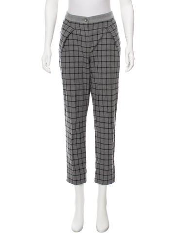 Thakoon Addition Printed Mid-Rise Pants None