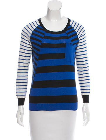 Thakoon Addition Stripe Wool Top None