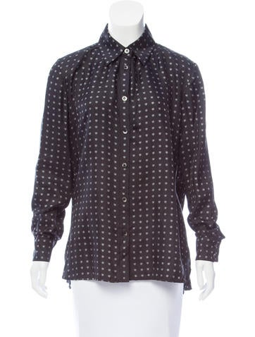 Thakoon Addition Silk High-Low Top None