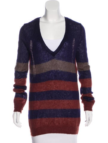 Thakoon Addition Striped Knit Sweater None