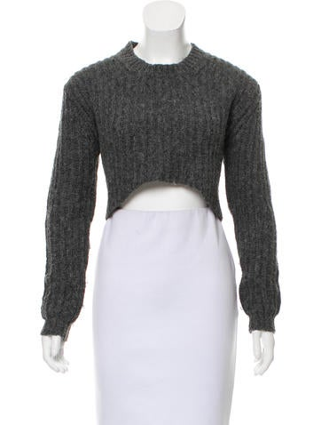 Thakoon Addition High-Low Alpaca-Blend Sweater None