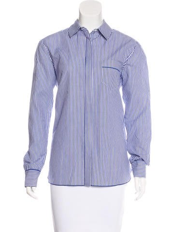 Thakoon Addition Striped Button-Up Top None