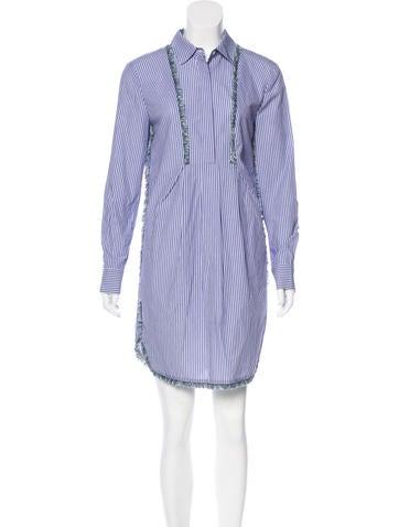 Thakoon Addition Fringe-Trimmed Striped Dress None