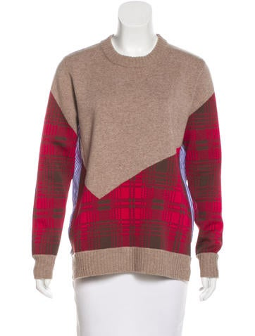 Thakoon Addition Wool-Blend Paneled Sweater None