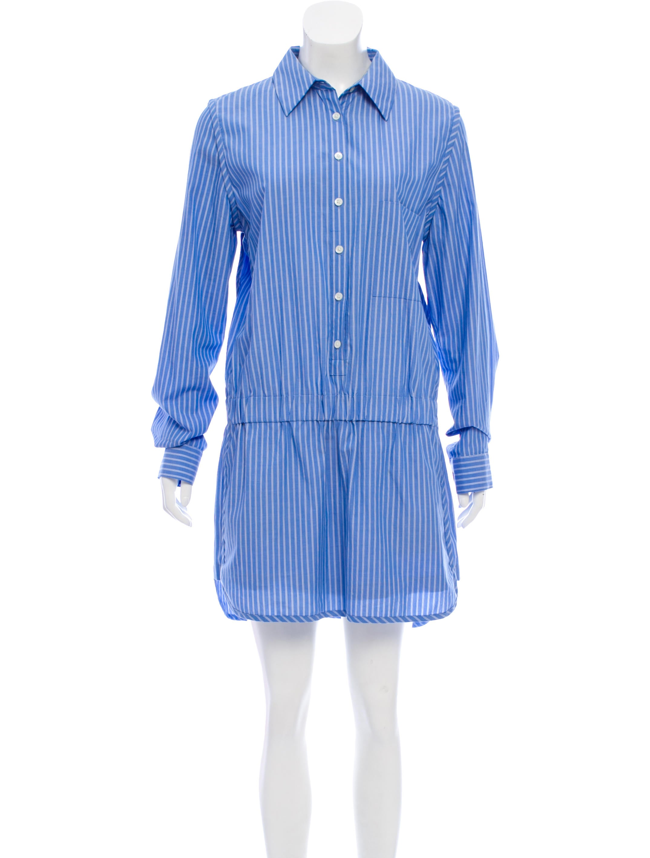 0d8a30099df8 Thakoon Addition Striped Long Sleeve Romper - Clothing - WTK23759 ...