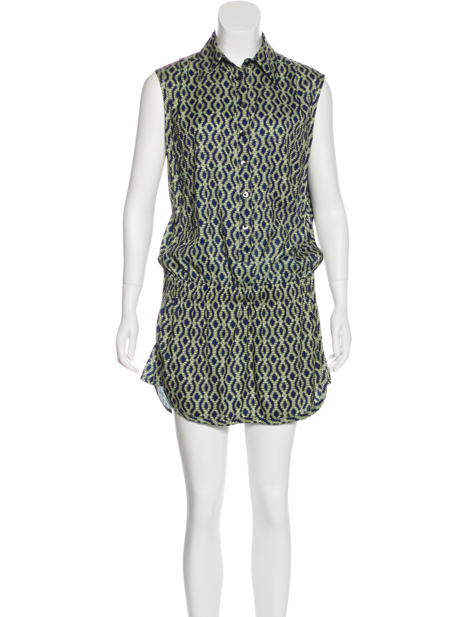 5147a5cd8b01 Thakoon Addition Printed Sleeveless Romper - Clothing - WTK24034 ...