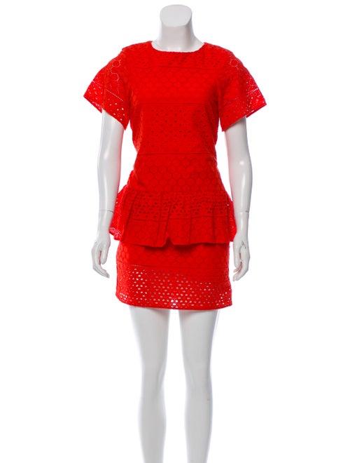 Thakoon Addition Lace Mini Dress Orange