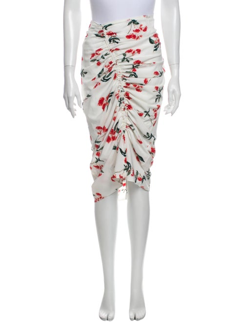 The Line by K Floral Print Knee-Length Skirt White
