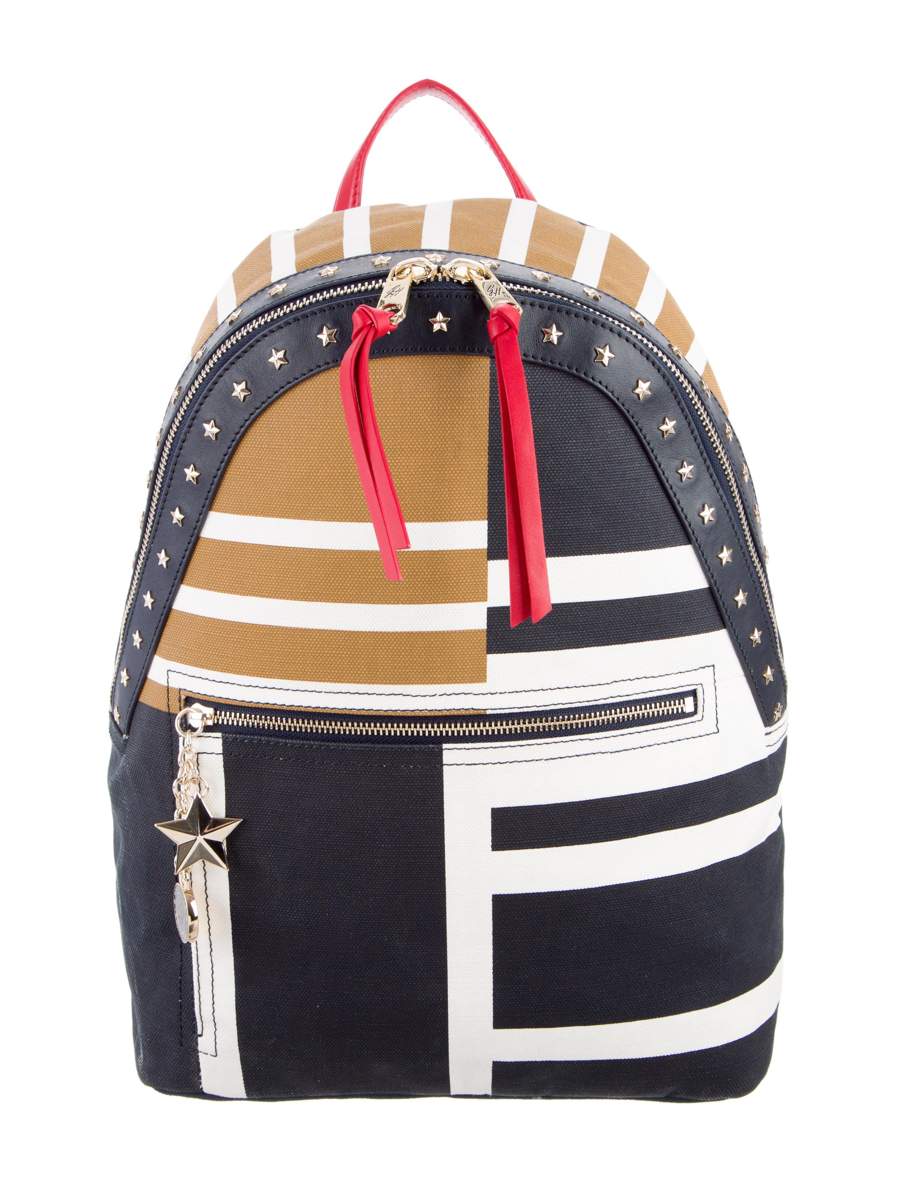 tommy hilfiger gigi hadid studded canvas backpack. Black Bedroom Furniture Sets. Home Design Ideas