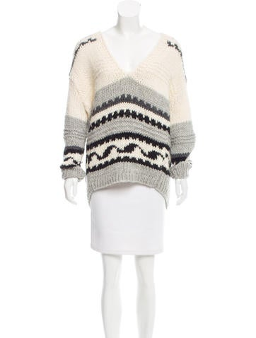 Tomorrowland Patterned Wool-Blend Sweater None
