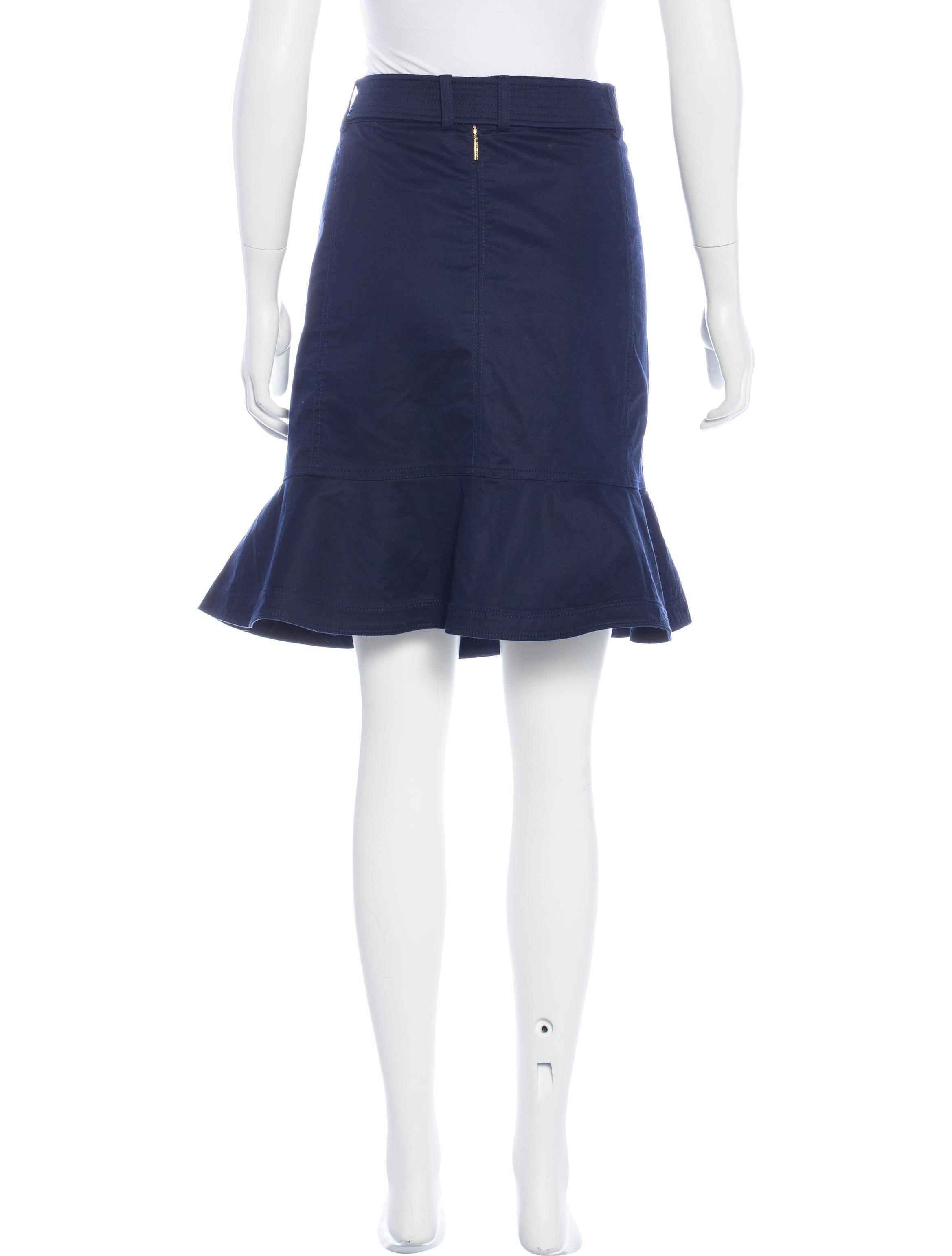 burch knee length peplum skirt clothing wto100141