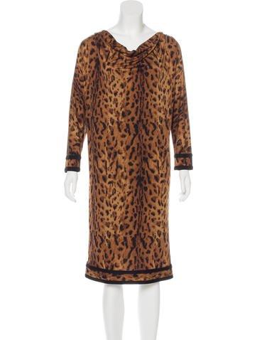 Tory Burch Silk Leopard Print Dress None