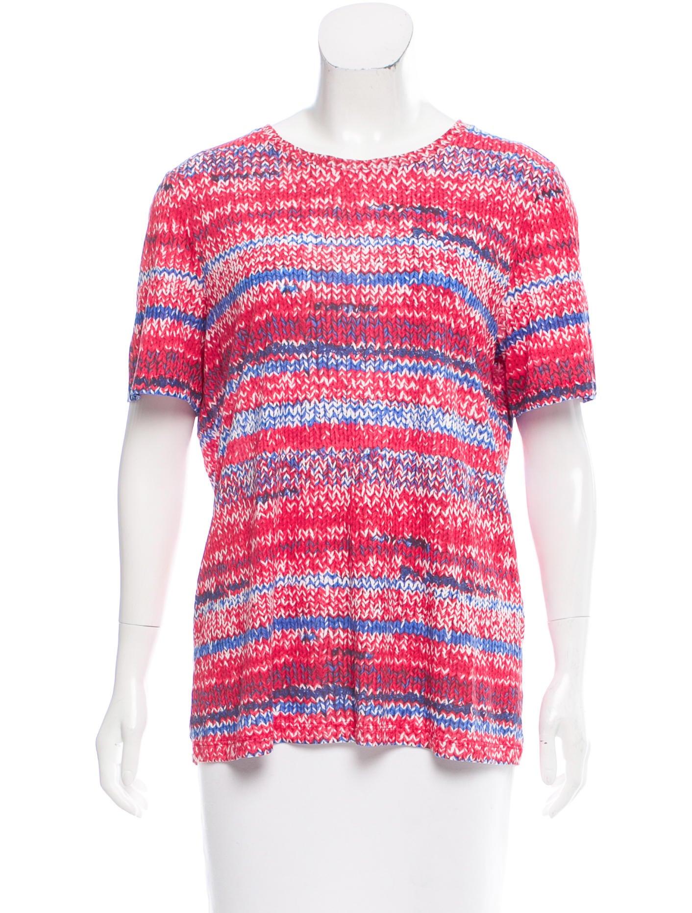 Tory burch printed short sleeve t shirt clothing for Tory burch t shirt