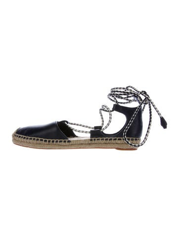 Tory Burch Positano Leather Espadrilles None