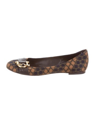 Tory Burch Satin Round-Toe Flats None