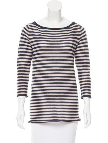 Tory Burch Striped Pattern Knit Top None