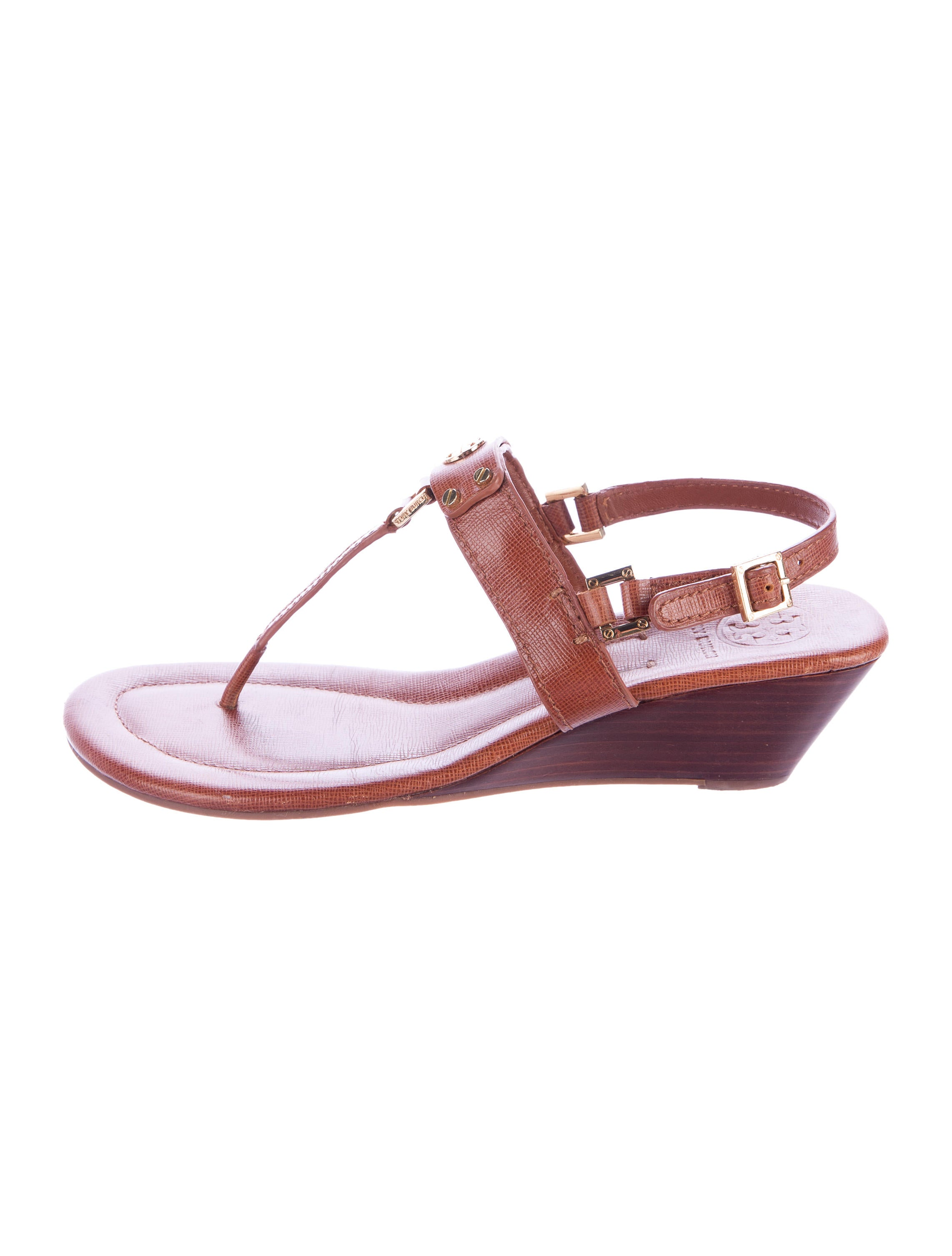 Tory Burch T Strap Wedge Sandals Shoes Wto101820 The