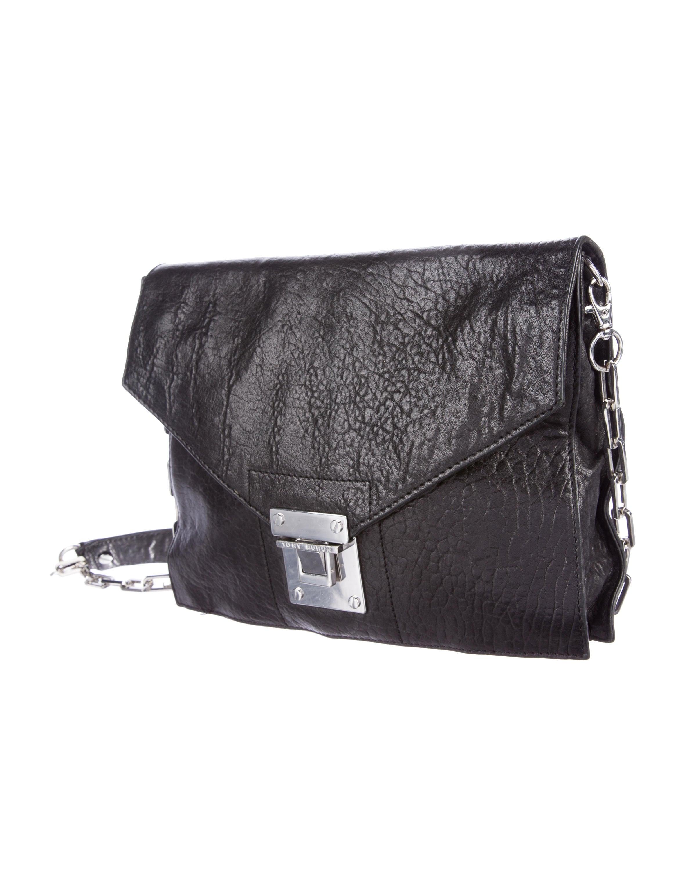 Black Pebbled Leather Crossbody Bag 112