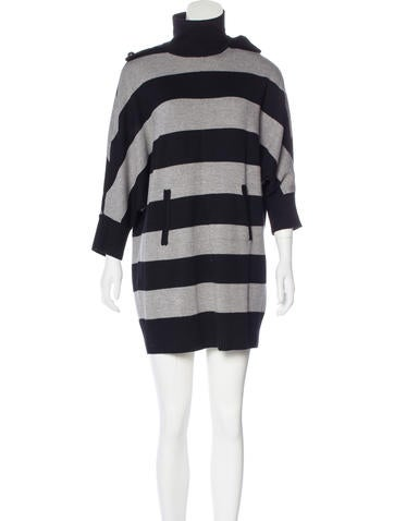 Tory Burch Wool Striped Dress None