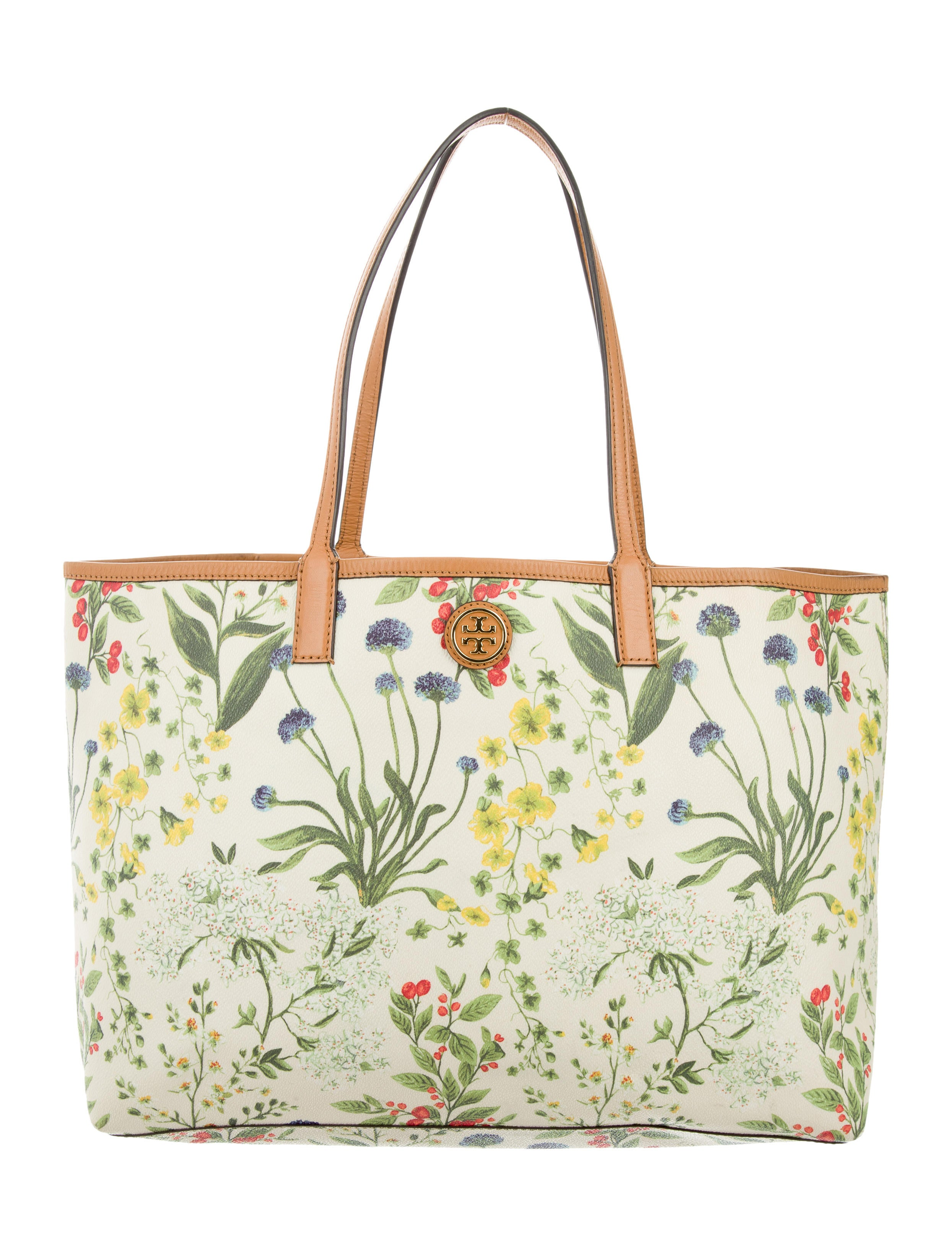 Tory Burch Kerrington Floral Print Shopper Bag Handbags
