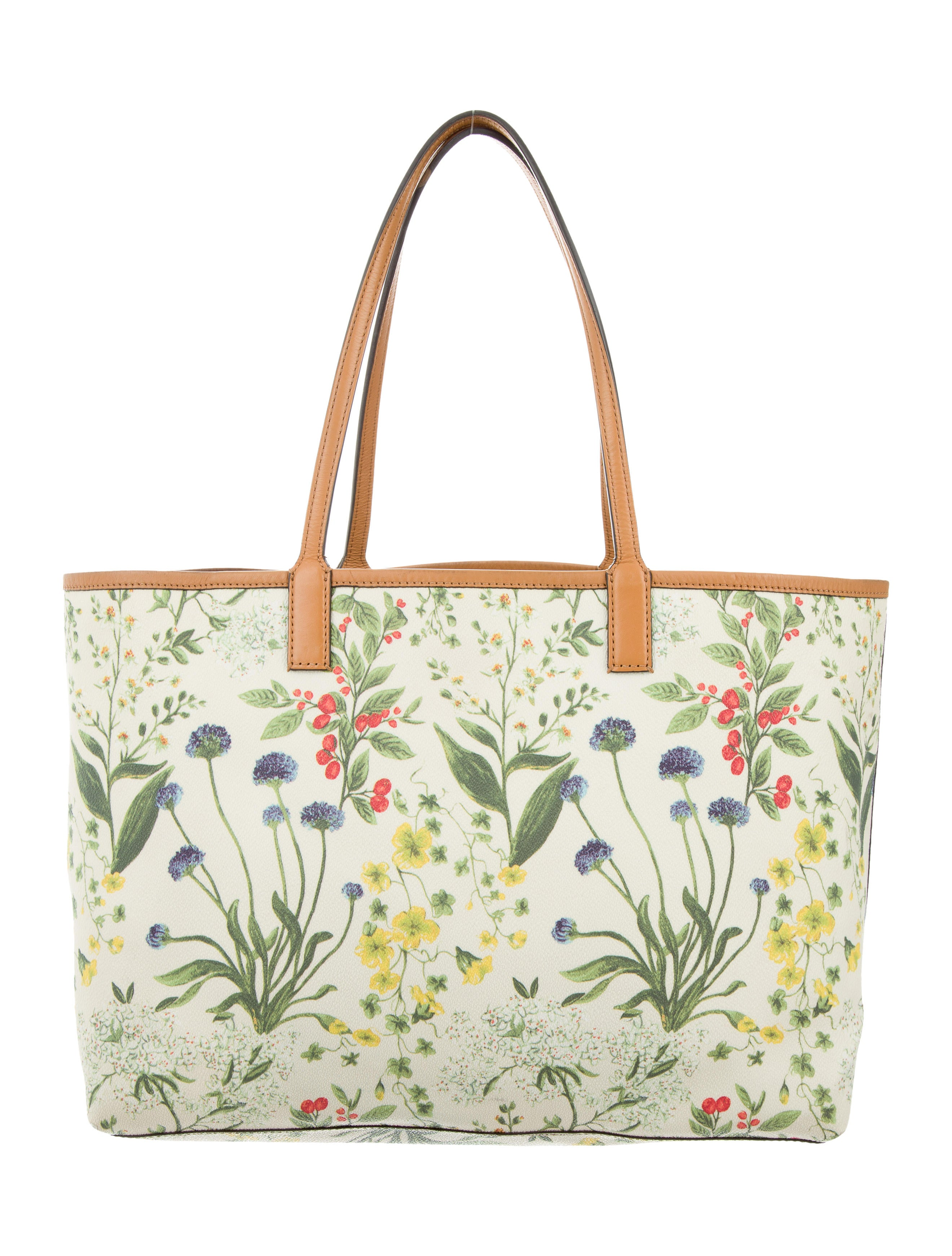 Tory Burch Kerrington Floral-Print Shopper Bag - Handbags - WTO102244 | The RealReal
