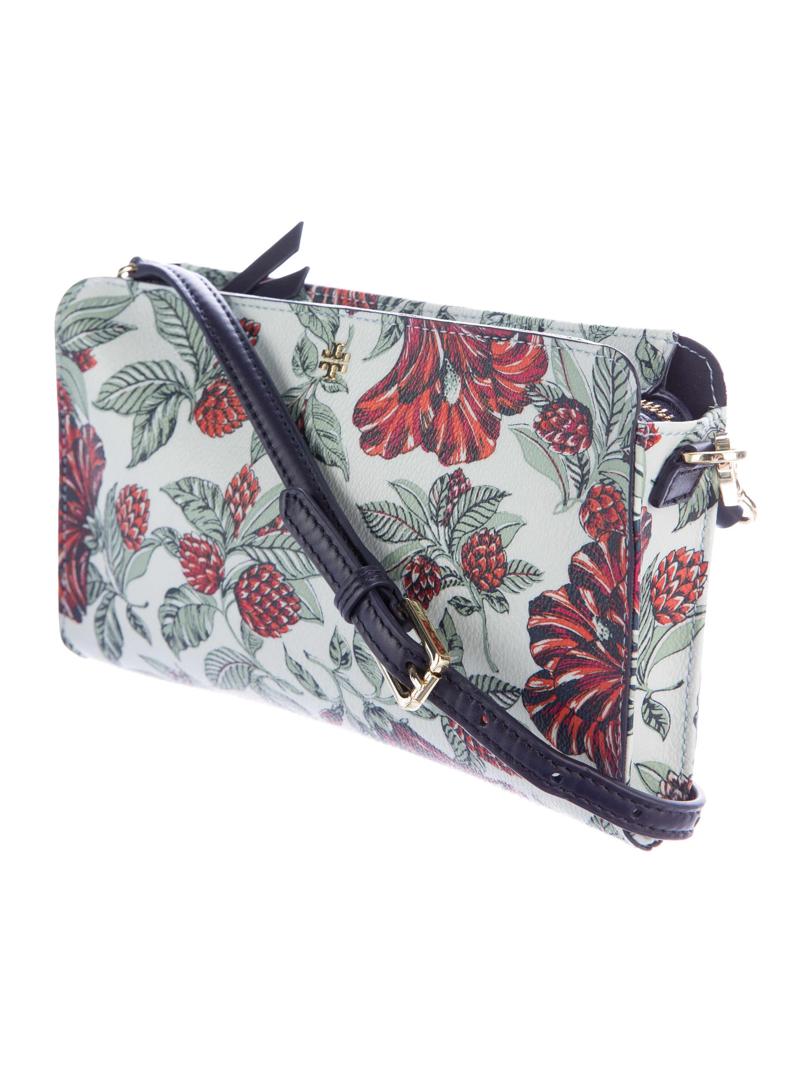 Tory Burch Floral Coated Canvas Crossbody Bag - Handbags - WTO102276 | The RealReal