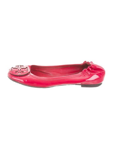 Tory Burch Patent Leather Logo Flats None