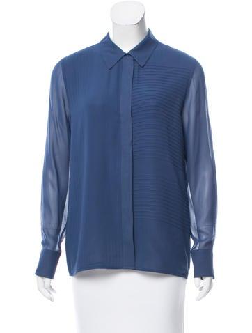 Tory Burch Silk Button-Up Top None
