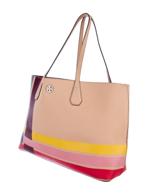 c614b811fe7 Tory Burch Perry Variegated-Stripe Tote - Handbags - WTO102594