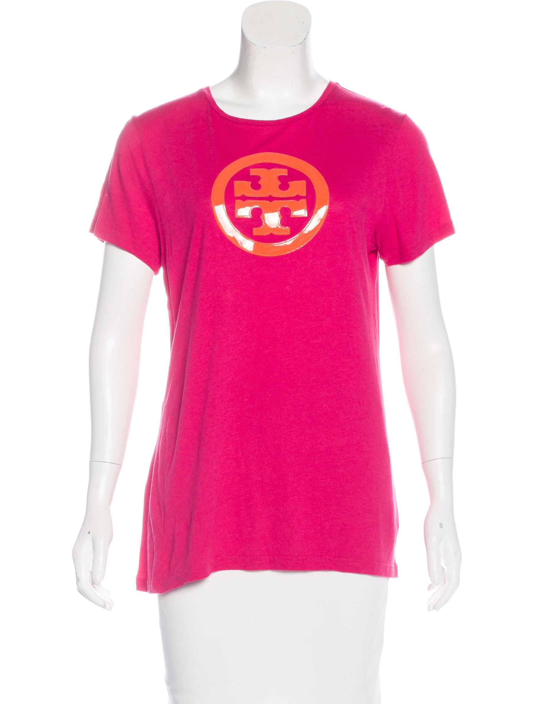 Tory burch logo embellished t shirt clothing wto102647 for Tory burch t shirt