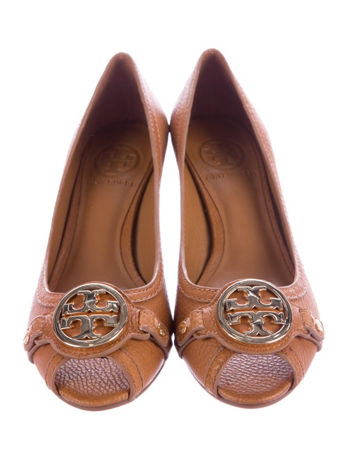22fc169fdf3 Tory Burch Leticia Peep-Toe Wedge Pumps - Shoes - WTO102834