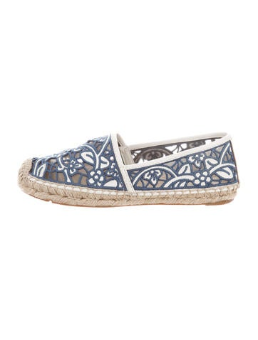 Tory Burch Laser Cut Espadrille Flats None