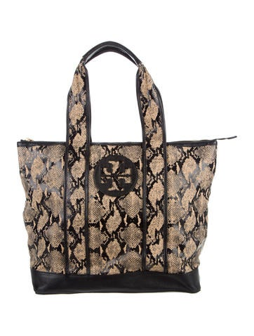 Tory Burch Textured Straw Tory Tote None
