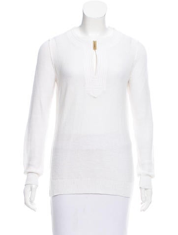 Tory Burch Knit Long Sleeve Top None