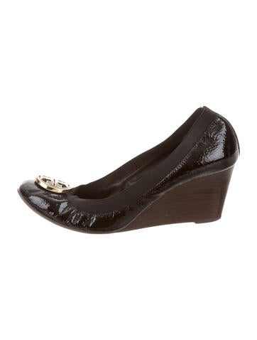 Tory Burch Patent Leather Sally Wedges None