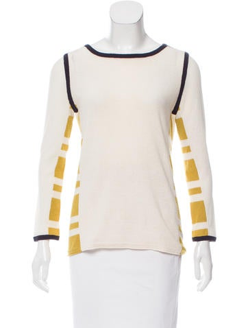 Tory Burch Colorblock Paneled Sweater None