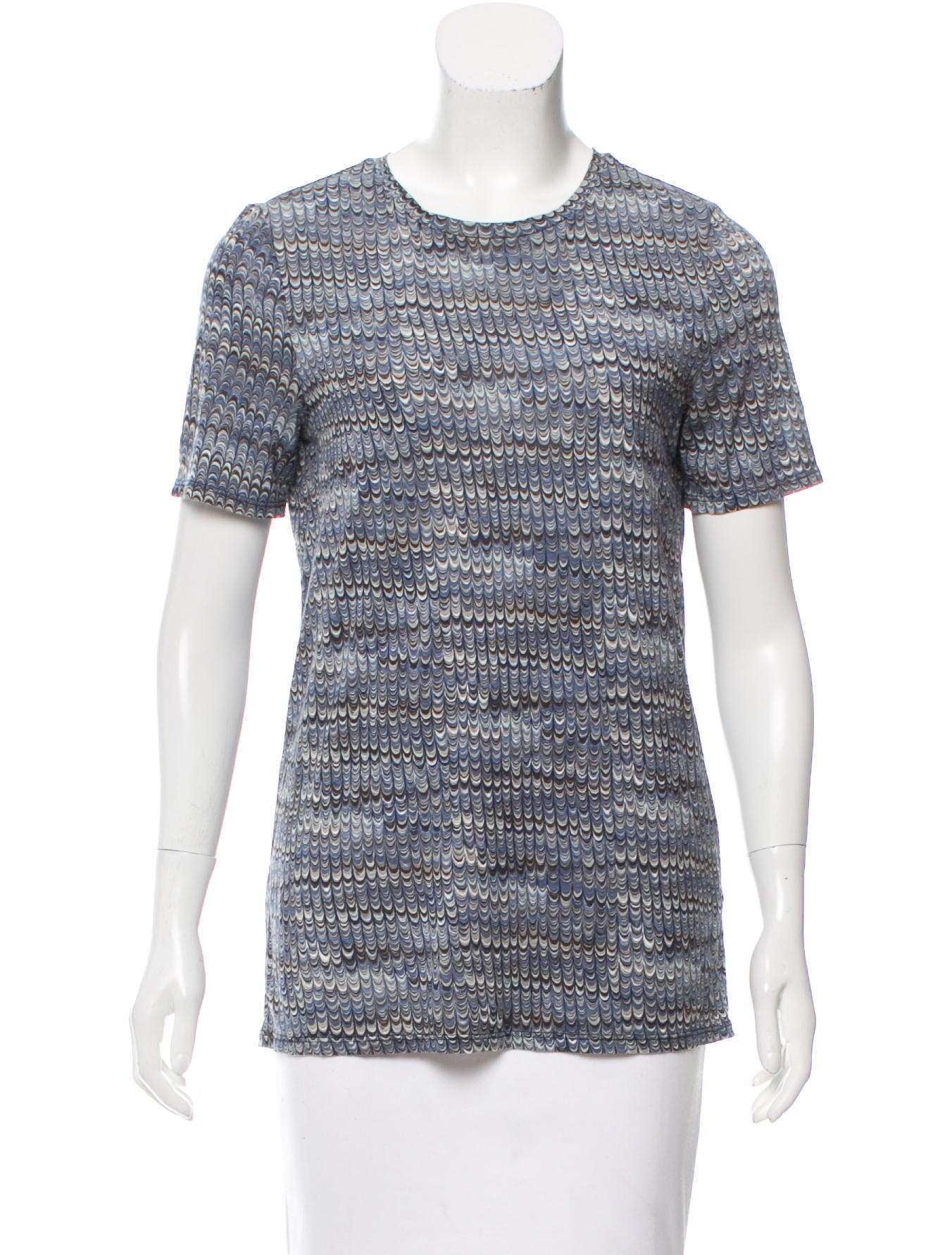 Tory burch short sleeve abstract print t shirt clothing for Tory burch t shirt