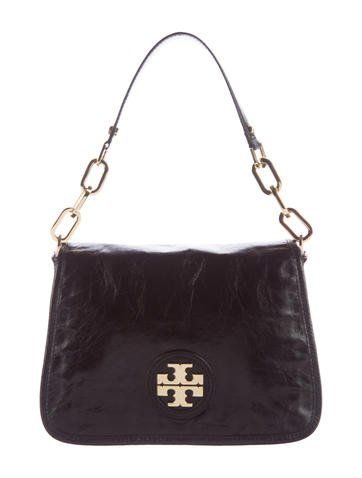 Tory Burch Leather Flap Shoulder Bag None