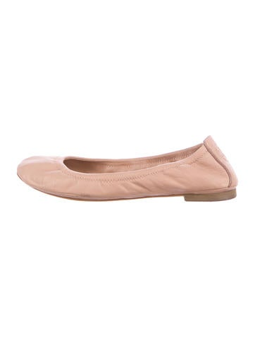 Tory Burch Leather Round-Toe Flats None