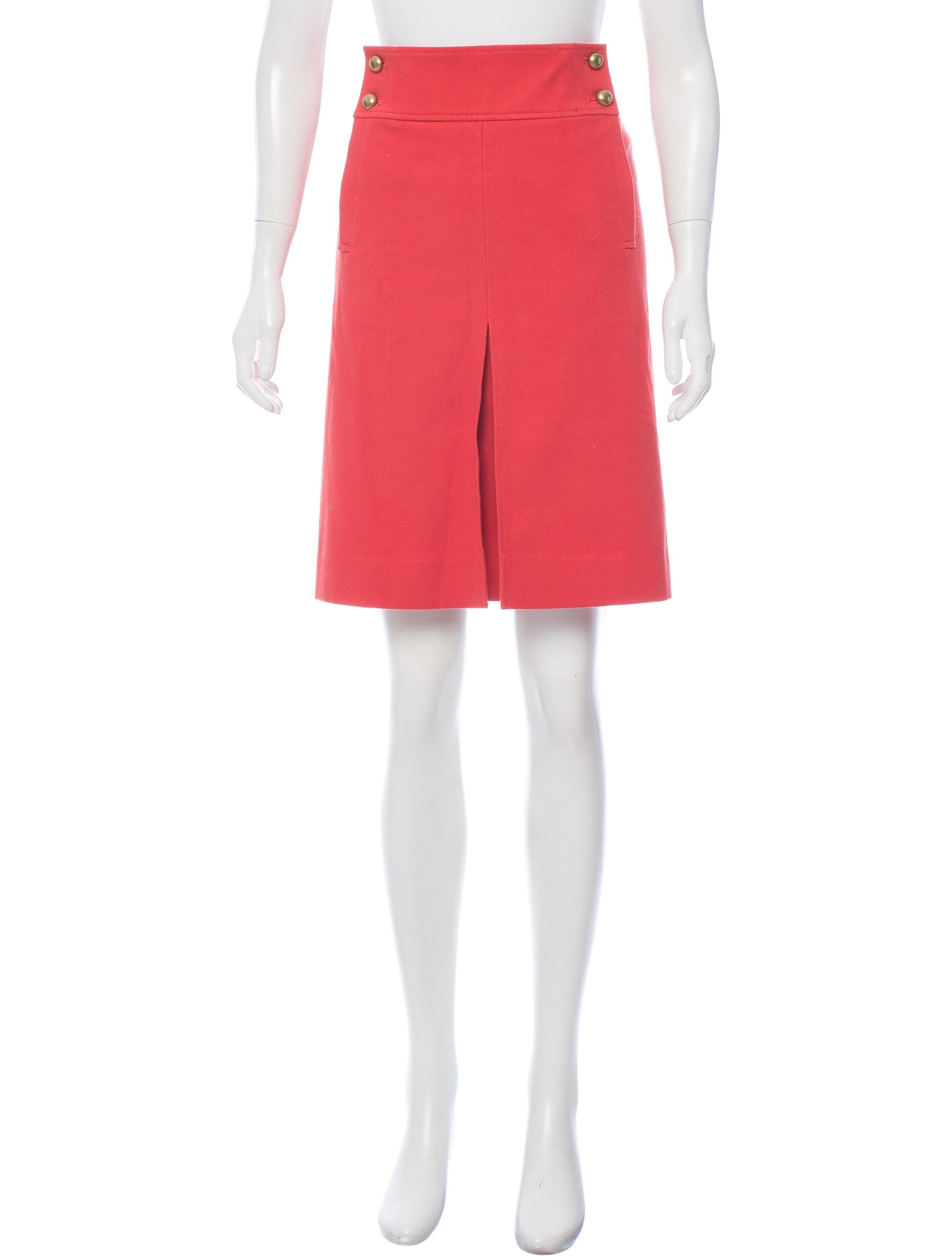burch pleated knee length skirt clothing