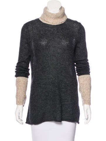 Tory Burch Turtleneck Knit Sweater None