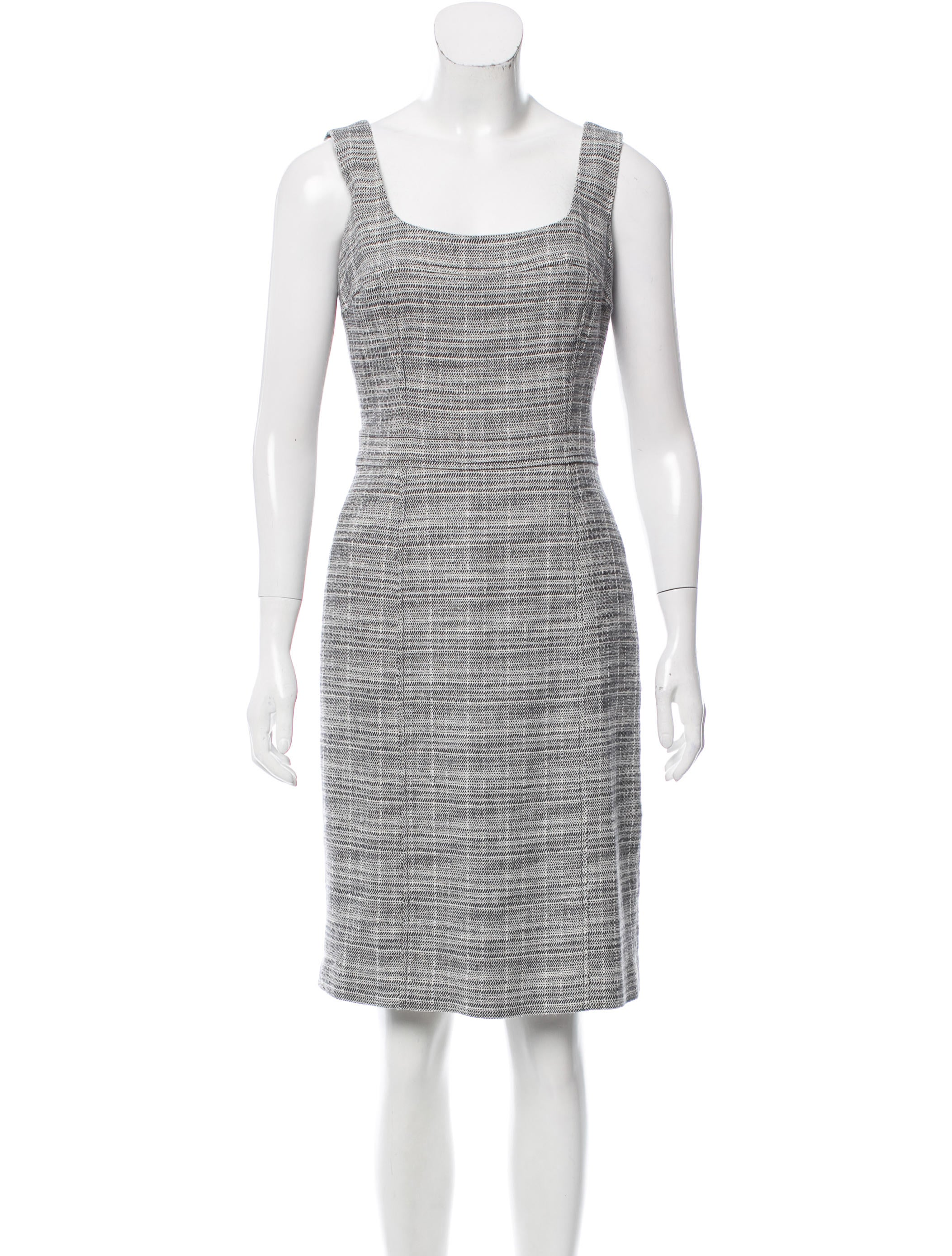 1ed043bf5d2c Tory Burch Sleeveless Bouclé Dress - Clothing - WTO106119